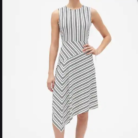 Banana Republic Dresses & Skirts - *NEW* BANANA REPUBLIC Stripe Asymmetrical Dress